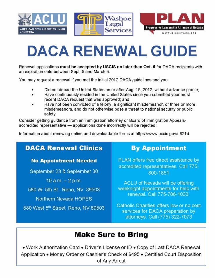 Daca renewal clinics in reno saturday 923 930 washoe county daca renewal clinics in reno saturday 923 930 washoe county young democrats malvernweather Choice Image
